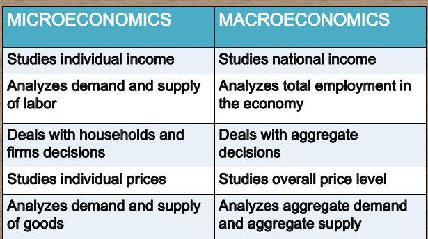 micro macro economics definition