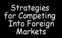 Strategies for entering into Foreign Market