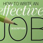 How to Write an Effective Job Description