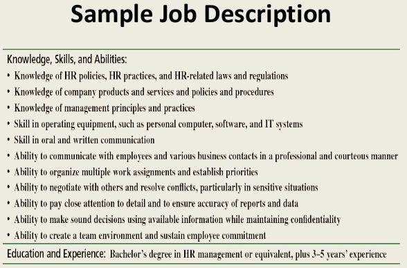 What Do You Mean by Job Description