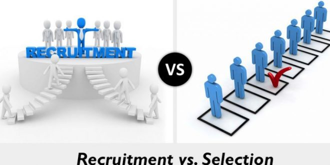 Difference between Recruitment and Selection
