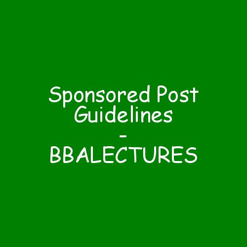Sponsored Post Guidelines - BBALECTURES