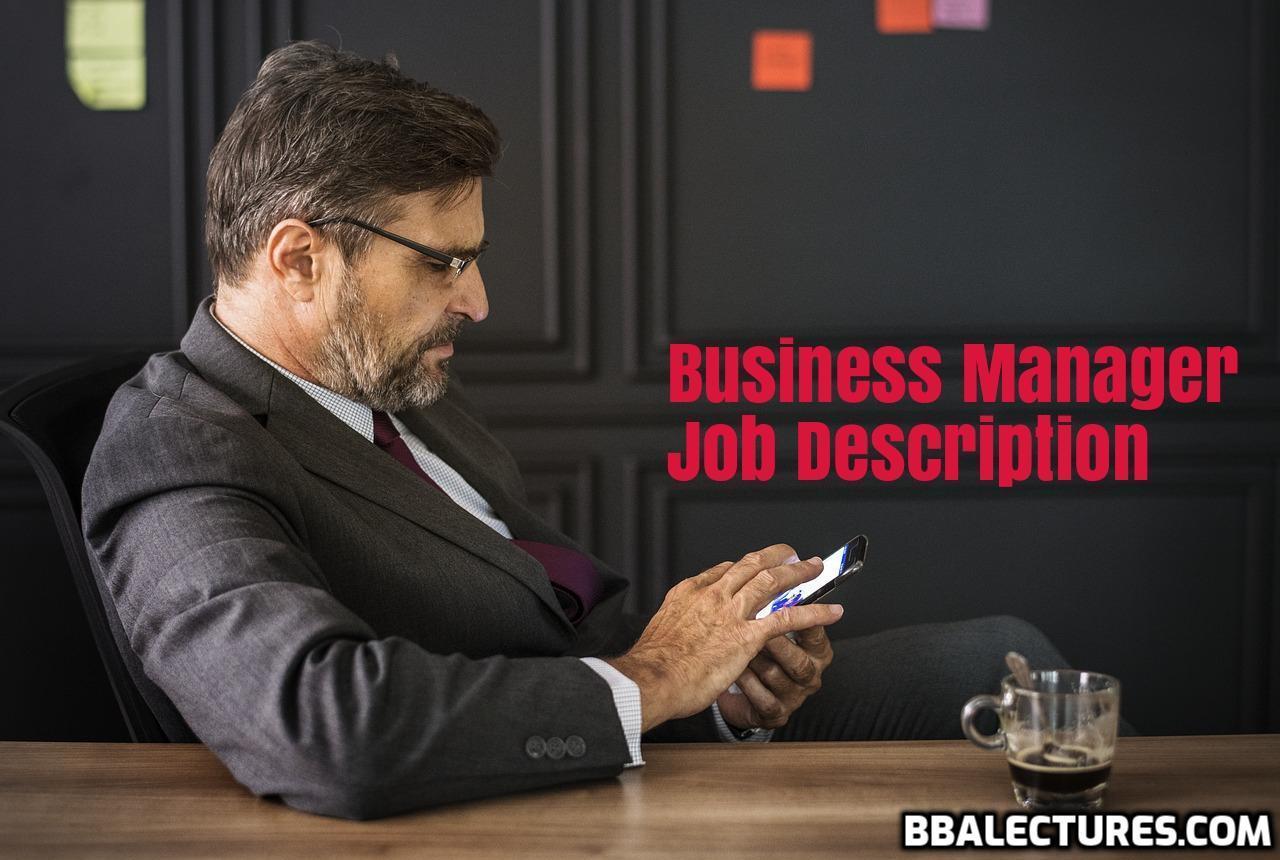 Business Manager Job Description